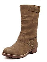 Women's Shoes  Chunky Heel Snow Boots / Round Toe Boots Outdoor / Casual Black / Khaki