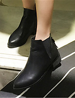 Women's Shoes Low Heel Pointed Toe Boots Casual Black / Gray