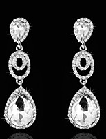 Vintage Women's  Earrings  Diamond  Silver Earring For Wedding Bridal