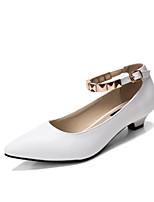 Women's Shoes Low Heel Heels / Pointed Toe / Closed Toe Heels Dress Black / Pink / White / Gray