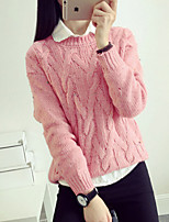 Women's Solid Thicken Warm Pullover , Casual Long Sleeve