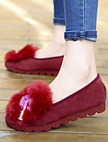Women's Shoes Comfort / Ballerina / Novelty / Round Toe Loafers Party & Evening / Dress / Casual Black / Red / Beige