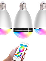 One with Two APP RGB  LED Wireless Bluetooth Speaker Bulb Audio Speaker Music Playing & Lighting With APP E27