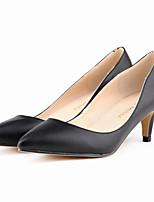 Women's Shoes Leatherette Stiletto Heel Heels / Pointed Toe Heels Office & Career / Dress / CasualBlack / Blue