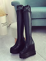 Women's Shoes Platform Fashion Boots / Closed Toe Boots Dress / Casual Black