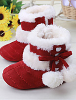 Baby Shoes Outdoor / Dress / Casual Calf Hair / Leatherette Boots Red