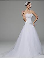 Vestido de Boda - Blanco Corte en A Capilla - Sweetheart Satén