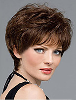 Most Popular Women Lady To European And America Brown Synthetic Wigs From Stock