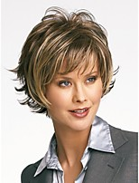 European and American High-temperature Wire Mixing Color Synthetic Hair And Short Hair Wig
