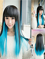 Double Color Wigs For Women Female Cosplay Cinderella Cheap Wig Party Hair Wigs