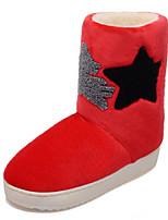Zapatos de mujer - Tacón Bajo - Punta Redonda - Botas - Casual - Semicuero - Negro / Azul / Rojo