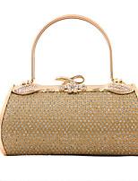 Women PVC / Metal Minaudiere Clutch / Evening Bag - Gold