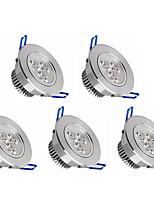 Lampes Encastrées Gradable Blanc Chaud / Blanc Froid 5 pièces 6W 3 LED Haute Puissance 550 LM V