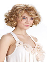 Best Seliing Charming Color Blonde   Extensions European Lady Women Wig Syntheic  Wigs
