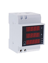 Multi-functional Digital Din Rail Current Voltage Power Ammeter Voltmeter Display Meter