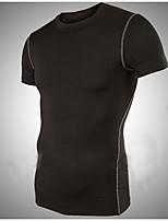 Polyester / Spandex - Effen - Heren - T-shirt - Informeel / Werk / Formeel / Sport / Grote maten - Korte mouw