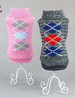 FUN OF PETS® Classic Diamonds Pattern Winter Sweater Puppy Clothing for Pets Dogs (Assorted Sizes and Colours)