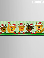 E-HOME® Stretched Canvas Art Reindeer Christmas Series Decoration Painting  One Pcs