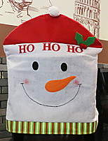 Santa Hat Cartoon Snowman Chair Cover for Christmas Dinner Table Party Decoration