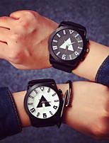 Large Dial Couple Fashion Watches Men Luxury Brand Sports Watches Women Dress Quartz Vintage Rubber Band Strap Watch Cool Watches Unique Watches
