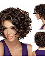 Synthetic African american wigs Short kinky curly hair wigs for women sw0420