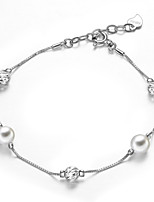 Japan and Korea style  925 Sterling Silver Bracelet with  Fresh Water Pearl