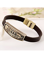 Fashion leather strap leather bracelet punk style leather bracelet vintage metal featherh(bracelet)