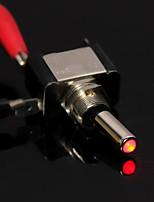 10x bil båt SPST rött LED-ljus 12v 20a spets vippströmbrytare