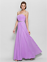 A-line Mother of the Bride Dress - Lilac Floor-length Sleeveless Chiffon