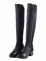 Women's Shoes  Chunky Heel Fashion Boots / Round Toe Boots Party & Evening / Dress / Casual Black
