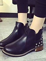 Women's Shoes  Low Heel Round Toe / Closed Toe Boots Office & Career / Party & Evening / Dress