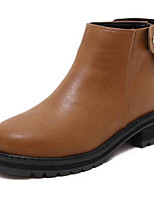 Women's Shoes Low Heel Combat Boots Boots Casual Black / Brown