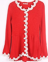 Women's Lace Pink / Red / Black / Beige / Gray Pullover , Casual ¾ Sleeve