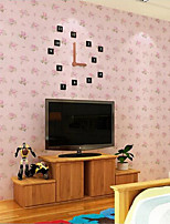 Home Decor Art Pink Rose Floral Country Wallpaper Wall Covering  PVC Wall Paper 10*0.45 M