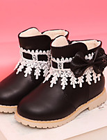 Girls' Shoes Casual Snow Boots / Bootie / Comfort / Round Toe Boots Black / Pink / Red