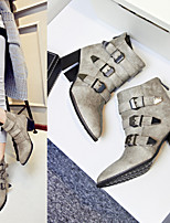 Women's Shoes Synthetic Chunky Heel Snow Boots / Fashion Boots Office & Career / Party & Evening / Casual Black / Gray