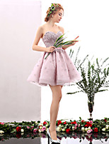 Cocktail Party Dress - Blushing Pink A-line Sweetheart Short/Mini Tulle
