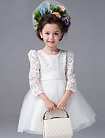 Girl's Vogue  Cotton Blend Fall/Winter Organza  Gauze Splice  Flowers  Gauze  Princess Dress