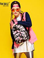HOWRU® Women 's PU Backpack/Tote Bag/Leisure bag/Travel Bag -Wine/Black