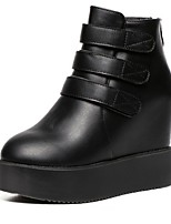 Women's Shoes  Wedge Heel Fashion Boots / Round Toe Boots Outdoor / Casual Black
