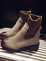 Women's Shoes Leatherette Chunky Heel Fashion Boots / Combat Boots Boots Outdoor / Dress / Casual Black / Gray