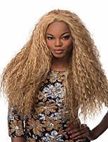 Hot Selling Synthetic Blonde Long Kinky Wave Wigs