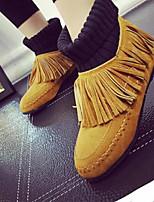 Chaussures Femme - Décontracté - Noir / Jaune / Gris - Talon Plat - Bout Fermé - Bottes - Synthétique