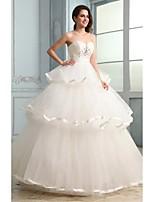 웨딩 드레스 - 아이보리(색상은 모니터에 따라 다를 수 있음) 볼 가운 바닥 길이 튜브탑 튤