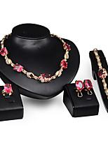 Women's Alloy / Rhinestone Jewelry Set Ruby
