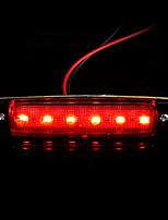4pcs 6 camión llevó indicadores de posición laterales del remolque bus luces de la lámpara 12v rojo