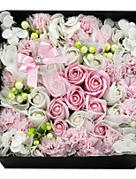 Waiting for Good News Roses Gift Box in Styrofoam Artificial Flower for Decoration,1 Box