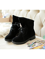 Women's Shoes Low Heel Round Toe / Closed Toe Boots Office & Career / Dress / Casual Black / Beige
