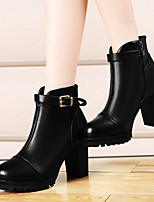 Women's Shoes Leatherette Chunky Heel Heels Heels Wedding / Party & Evening / Casual Black