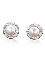 925 Sterling Silver Fresh Water Pearl Earring Studs